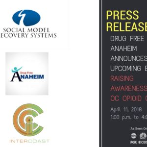 Drug Free Anaheim Announces Upcoming Event Raising Awareness of OC Opioid Crisis