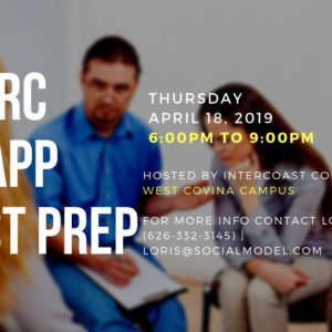 IC&RC / CCAPP April 18 Test Prep – In West Covina