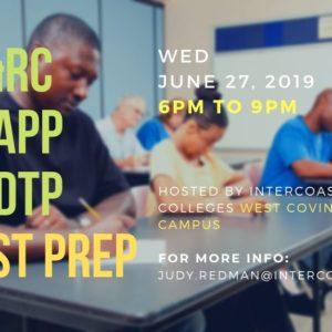 IC&RC / CCAPP / CADTP June 27 Test Prep – In West Covina