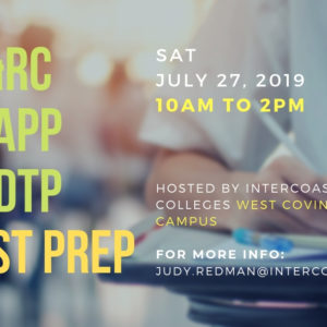 IC&RC / CCAPP / CADTP July 27 Test Prep – In West Covina